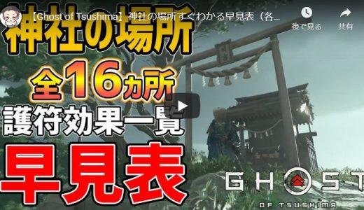 ゴーストオブツシマ 神社の場所すぐわかる早見表(各護符効果一覧)Ghost of Tsushima